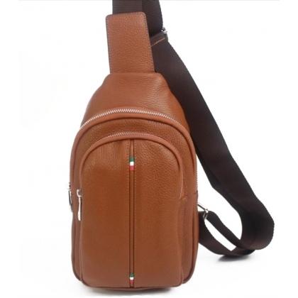 Мъжка чанта за през гърди от естествена кожа 17203-2