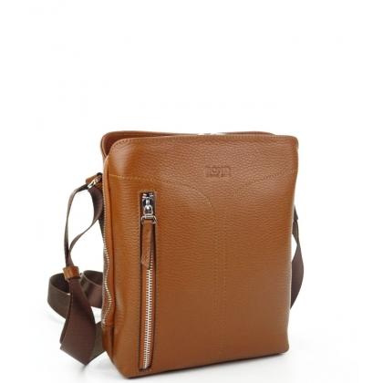 Мъжка кожена чанта за през рамо