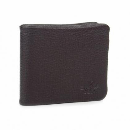 Тъмнокафяво мъжко кожено портмоне с цип, 1059