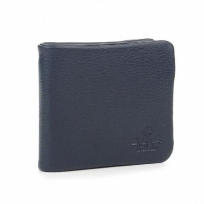 Луксозен мъжки портфейл, С цип, Син цвят, 1159-1