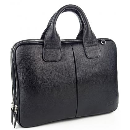 Мъжка бизнес чанта от естествена кожа B1320