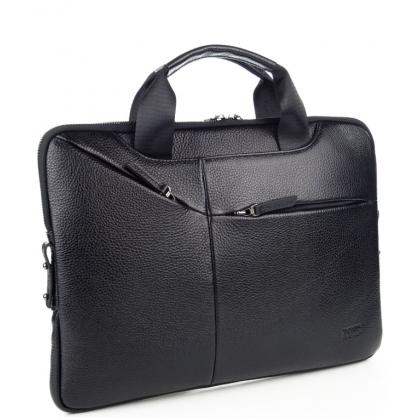 Мъжка бизнес чанта за лаптоп от естествена кожа B1417