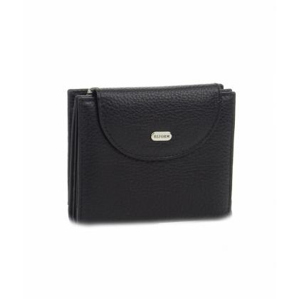Черно малко дамско портмоне, Монетник с цип, 755