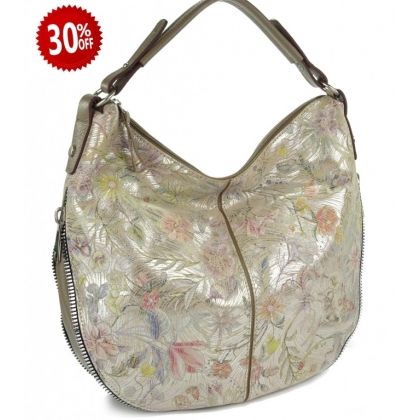 Кожена чанта тип торба, 999-2