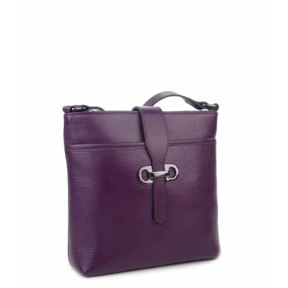 лилава чанта през рамо