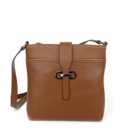 Чанта през рамо коняк