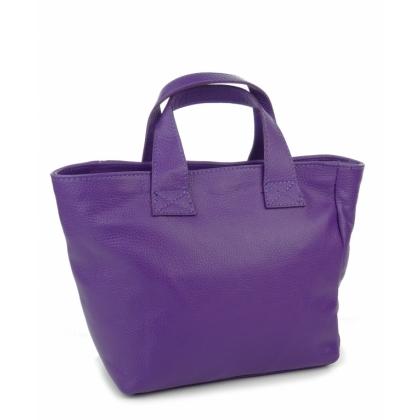 Лилава трапецовидна чанта