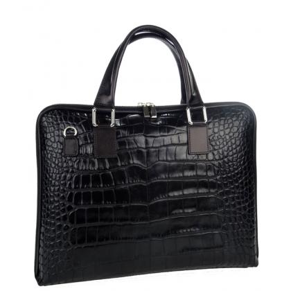 Дамска кожена чанта, Бизнес, За А4 формат,  E2811-1