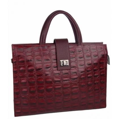 Бизнес чанта от естествена кожа за документи B3047-1