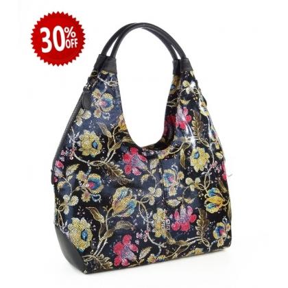 Чанта с ефектен флорални мотиви 3293G-3