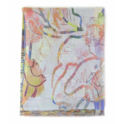 Копринен дамски шал