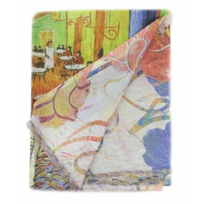 Двустранен копринен шал