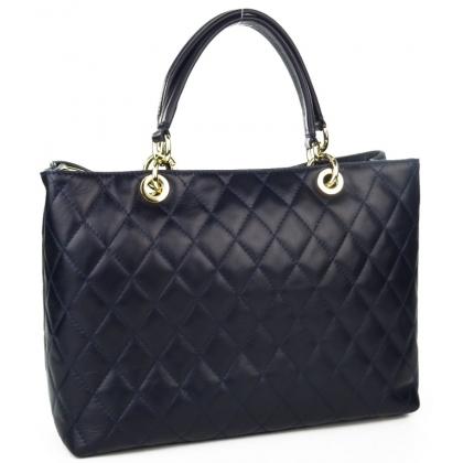 Дамска кожена чанта на вафлички 4320-1
