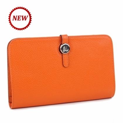 Голямо дамско портмоне оранжево