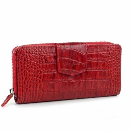 Голямо кожено портмоне, Червена, 881-4