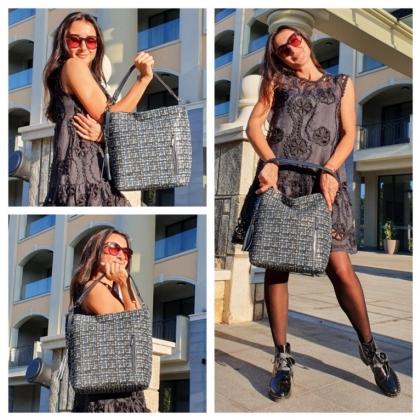 Дамска чанта от естествена кожа 1345T-6