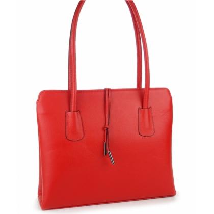 Червена дамска чанта с две отделения, P2310-5