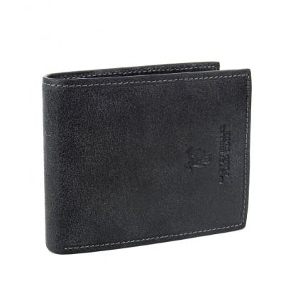 Мъжки кожен портфейл в черно 1288