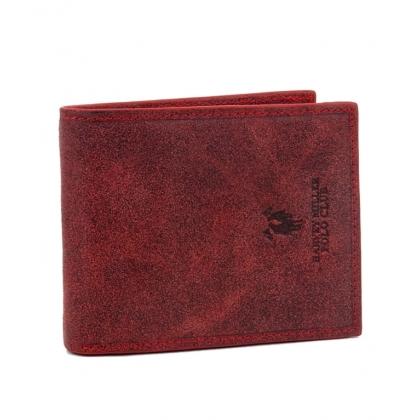 Мъжки кожен портфейл в червено 1288-2