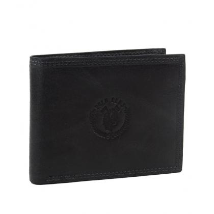 Мъжки кожен портфейл в черно 1792