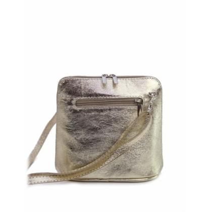Златна чанта през рамо