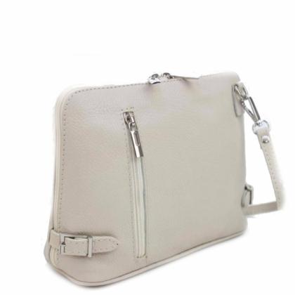 Малка бежова чанта за през рамо, Италия, 11193-2