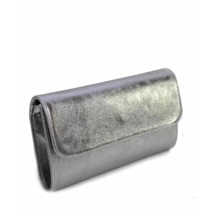 Сребърна дамска чанта тип плик с дълга дръжка, Италия, 1933-1