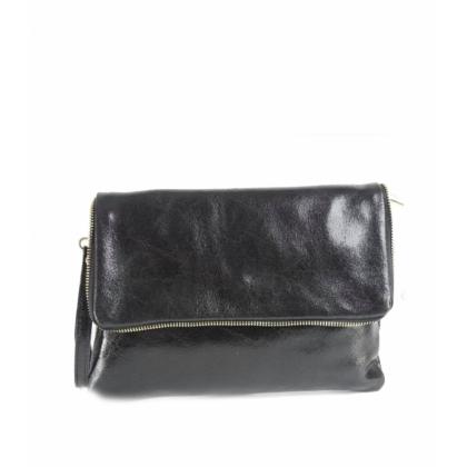 Черна кожена чанта , Плик, Италия, 1355