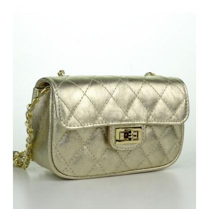 Малка кожена чанта в златист цвят, 1930-3