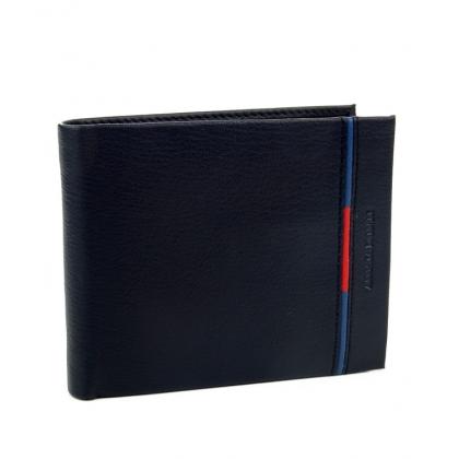 Мъжки кожен портфейл в тъмносин цвят