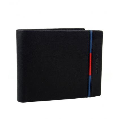 Мъжки кожен портфейл в черно 665-1