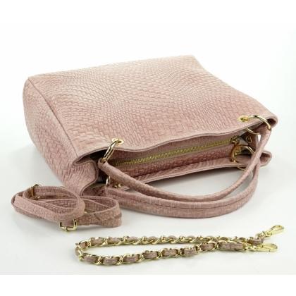 Плетен ефект чанта