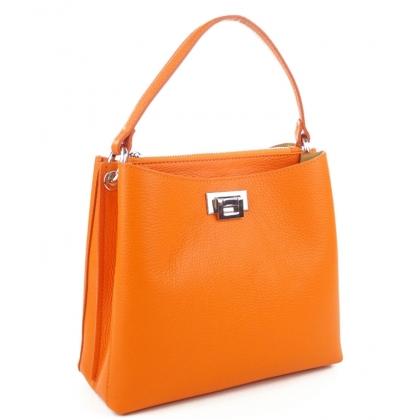 Дамска кожена чанта в оранжево, 1820