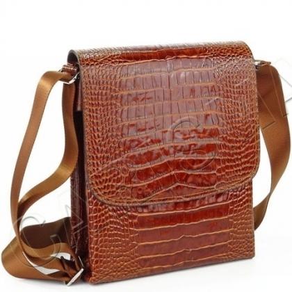 Мъжка чанта с капак, Кафява 5104