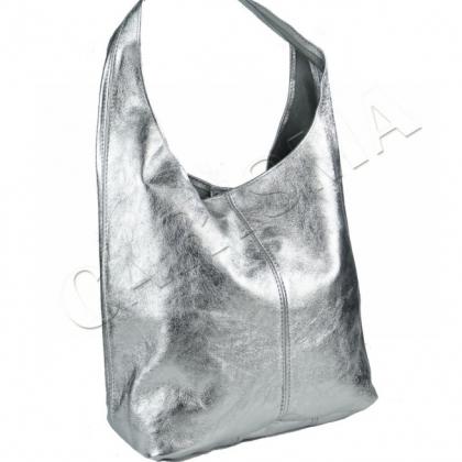 Чанта тип торба в сребрист цвят, 1413