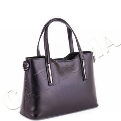 Черна дамска чанта от естествена кожа, 11111L