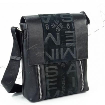 Мъжка чанта от естествена кожа 612612E