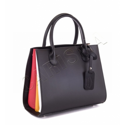 Многоцветна бизнес чанта от естествена кожа 6565