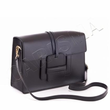 Чанта от естествена кожа черна 1200
