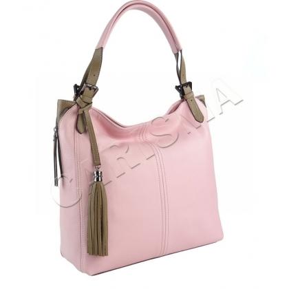 Елегантна дамска чанта, Розова, Каки, 1243-4