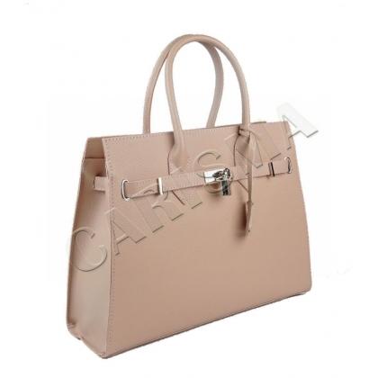 Дамска кожена чанта с катинар