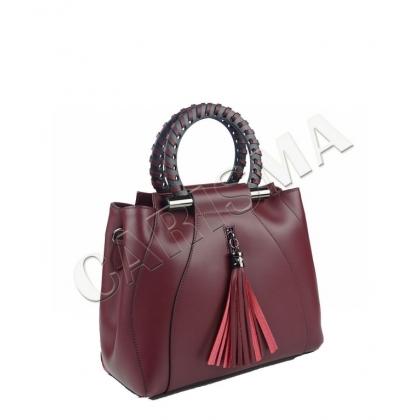 Стилна дамска чанта от естествена кожа 1520