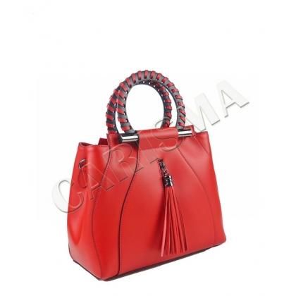 Стилна дамска чанта от естествена кожа 1520-3