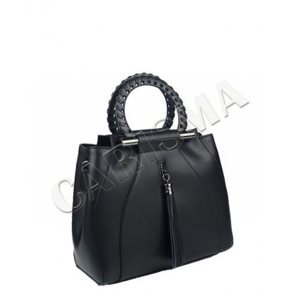 Стилна дамска чанта от естествена кожа 1520-2