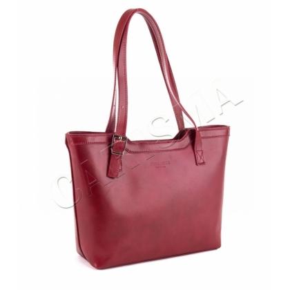 Класическа кожена чанта , Тъмно червен1333