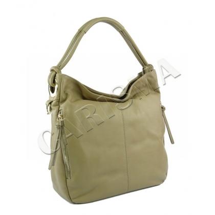 Дамска чанта от мека естествена кожа, 4310-1