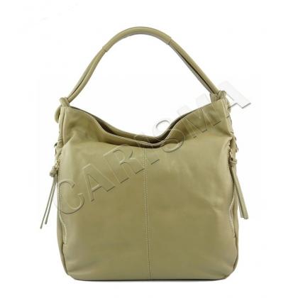 Мека чанта от естествена кожа