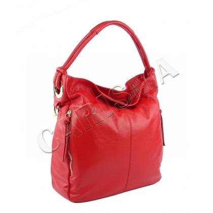 Дамска чанта от мека естествена кожа