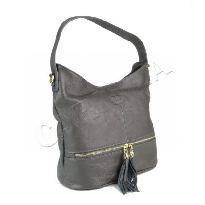 Чанта от естествена кожа с три прегради