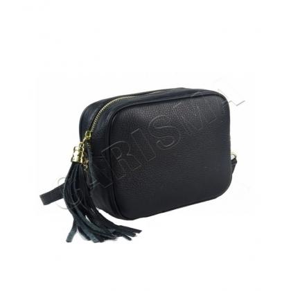 Черна малка чанта с дълга дръжка, 567-2